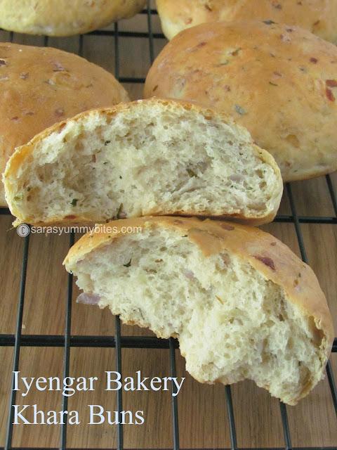 Iyengar Bakery Khara Buns / Bakery Style Spicy Buns