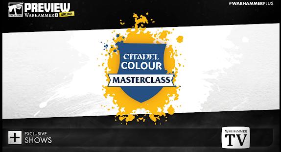 Warhammer Colour Master Class