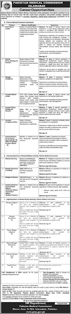 pakistan-medical-commission-pmc-jobs-2021-apply-online