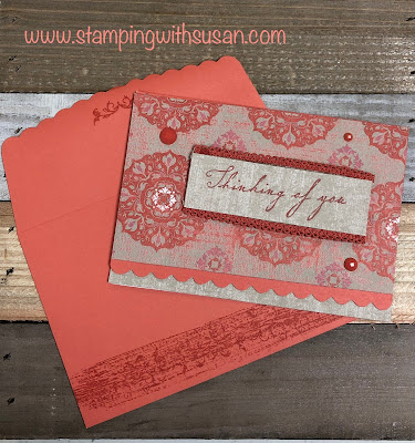 Stampin' Up!, Woven Threads Suite, Scalloped Note Cards, www.stampingwithsusan.com
