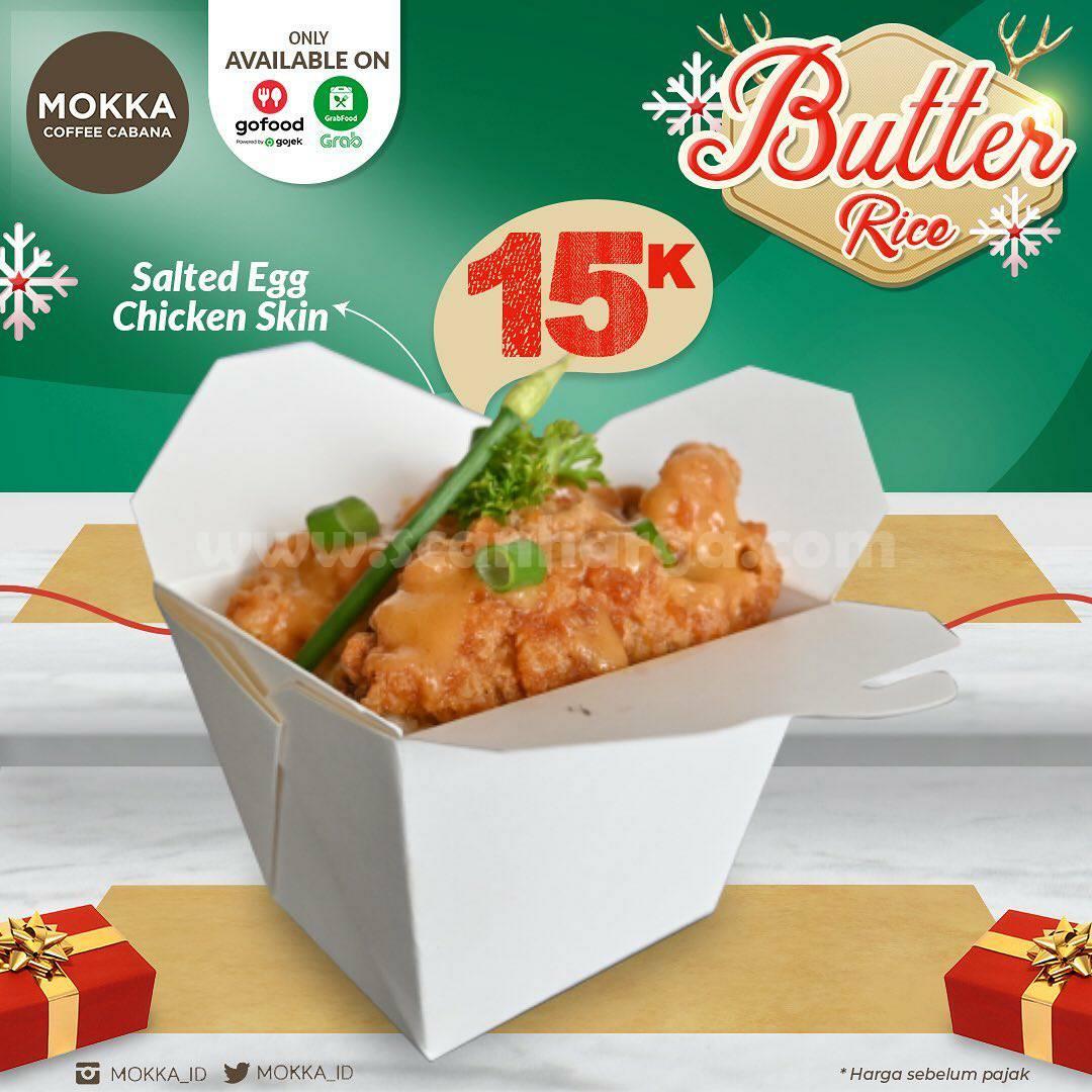 Promo Mokka Coffee Cabana – Butter Rice Salted Egg Chicken Skin cuma Rp 15.000