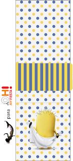 Etiqueta Tic Tac  para Imprimir Gratis de Minions Sexy.