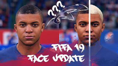 FIFA 19 Faces Kylian Mbappé by CrazyRabbit