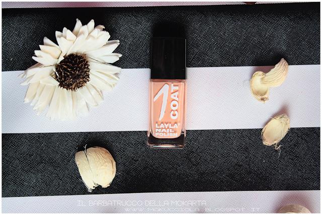 applicazione  layla 1coat n 32 nails nailart polish