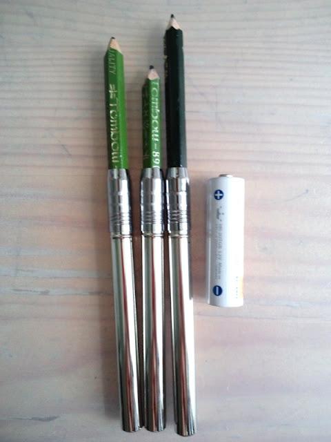 鉛筆補助軸 ペンシルホルダー 装着模様