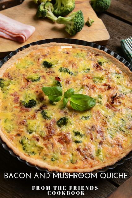 quiche with bacon and mushrooms