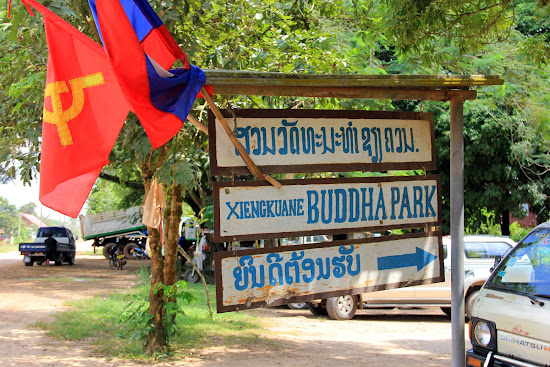 Entrance to Buddha Park in Vientiane