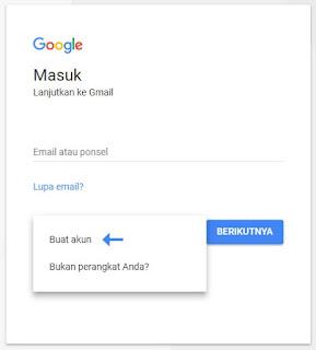 langkah membuat email dengan gmail