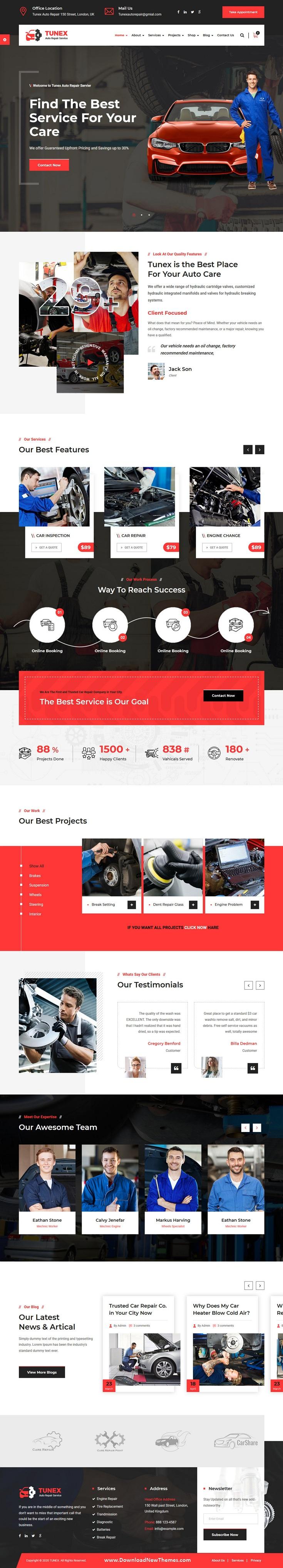 Auto Mechanic & Car Repair HTML Template