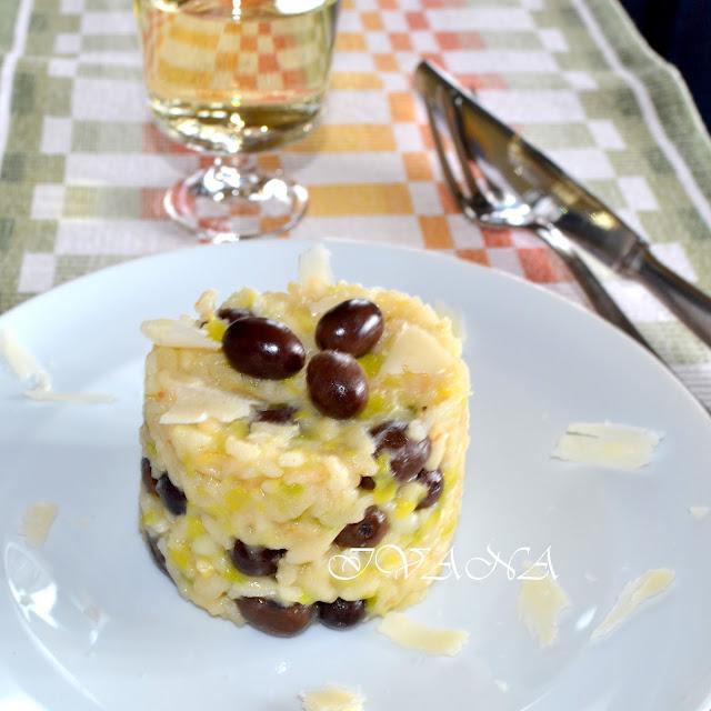 Ризото с маслини и праз лук