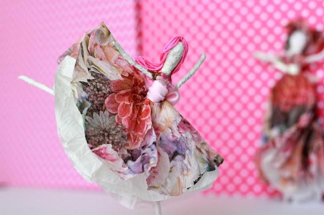 Ballerinen aus Papierservietten