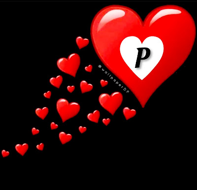 Cute Small Red and White Heartful All alphabets Dpz Pics