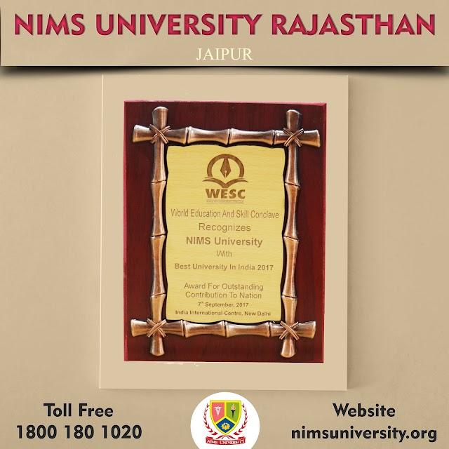 Awards of Nims University Rajasthan