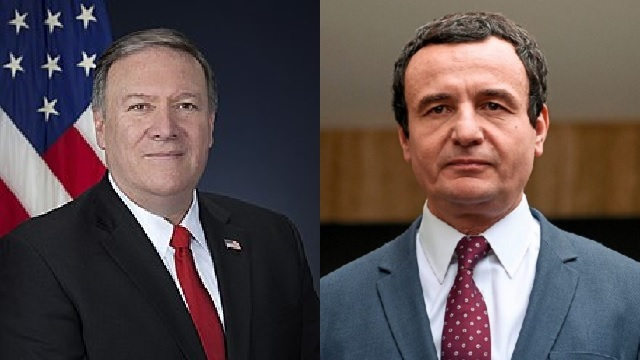 Pompeo say to Albin Kurti in a letter to Remove the tariff, Kosovo and Serbia to return back to dialogue