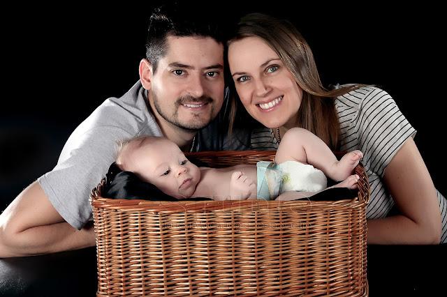 fotos de bebe em familia