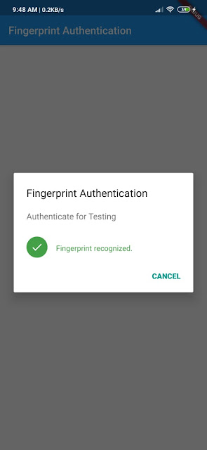 Autentikasi Fingerprint di Flutter - Tutorial Flutter Indonesia