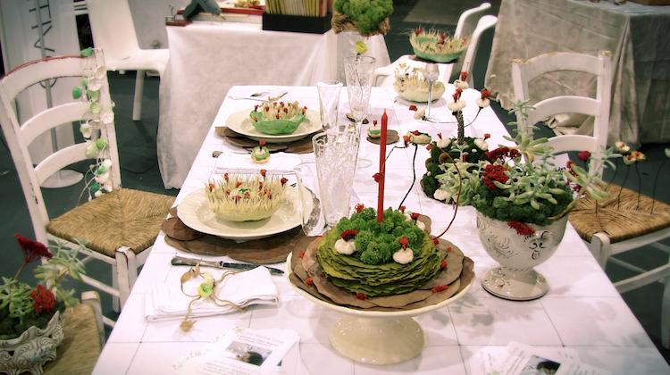 ghirlande di carta centrotavola e decorazioni di Natale eco friendly per Abilmente Roma