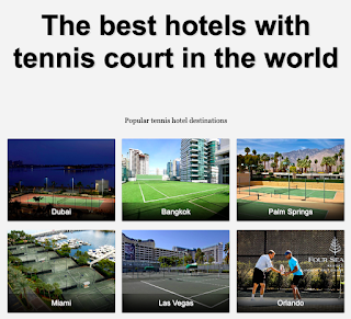 Hotels with tennis courts