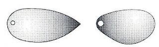 Ассиметричные лепестки вращающихся блёсен.