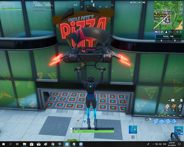 Accessible with Durr! Emoji inside Pizza Pit restaurant FORTBYTE Mission #59