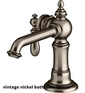 vintage nickel bathroom faucet