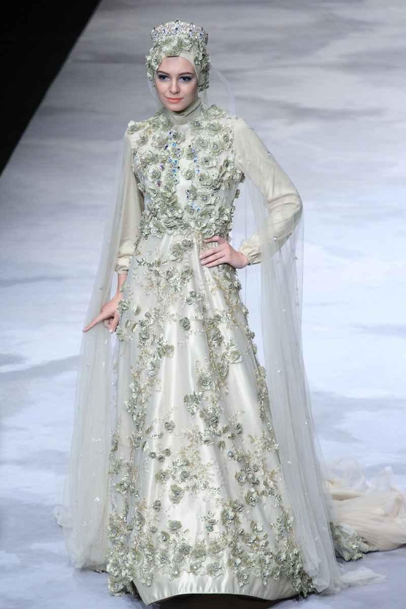 muslim wedding dress models and syari muslim wedding dress Muslim Wedding Dress Models and Syar i Latest Trend