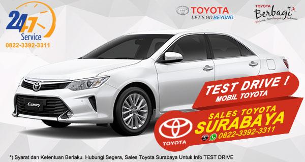 Info Test Drive Toyota Camry Surabaya