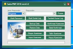 Faster PMP 2.2 Sebagai pengisian kuisioner pemetaan mutu PMP 2018.07