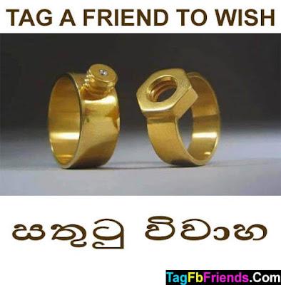 Happy marriage in Sinhala language