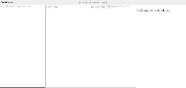 Make an Code Player in javascript programming | Javascript project