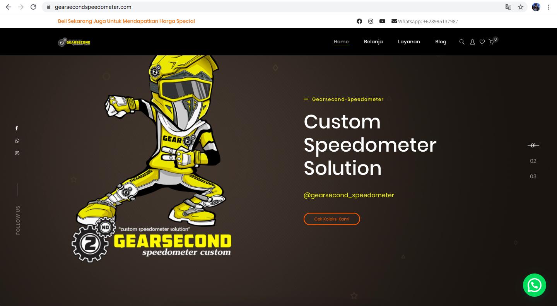 Jasa Pembuatan Website - Gearsecond Speedometer