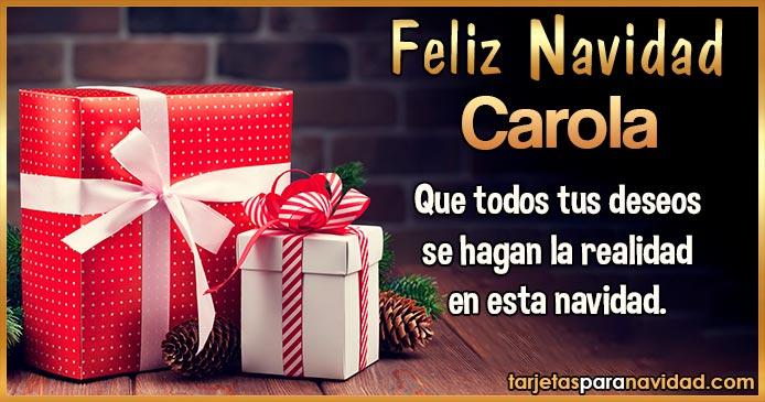 Feliz Navidad Carola