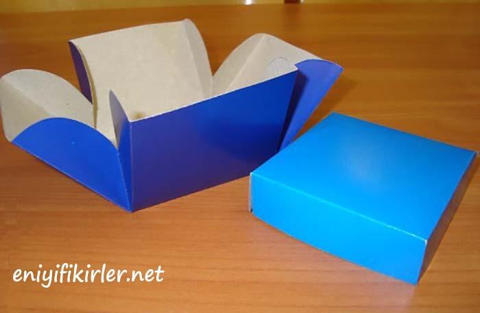 kartondan hediye kutusu yapımı