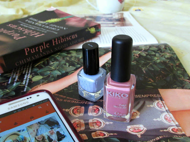 pamper routine 2016, Purple Hibiscus, Kiko nail polish, H&M nail polish