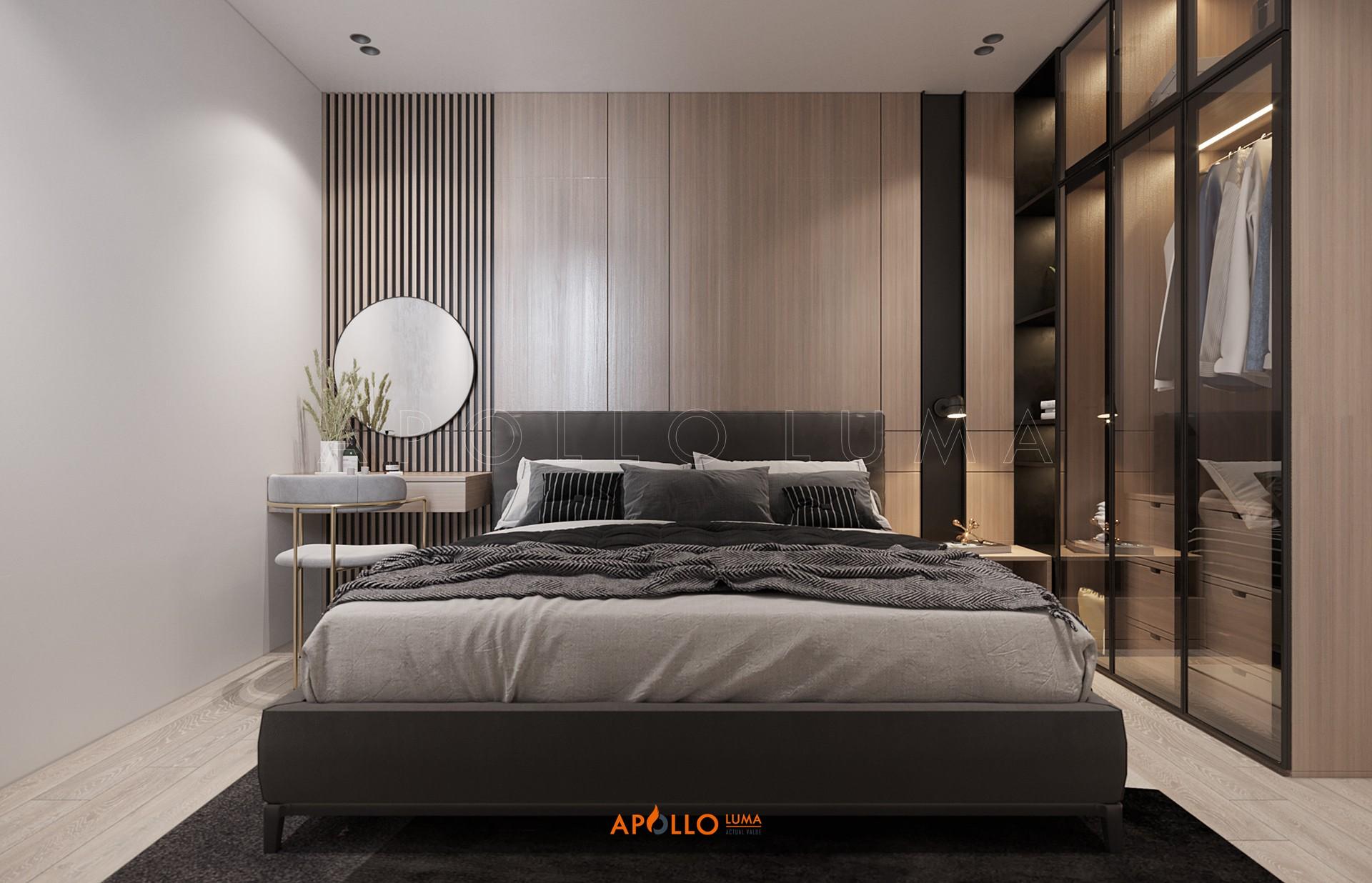 Thiết kế nội thất căn hộ 2PN+2WC (căn giữa) Vinhomes Smart City Tây Mỗ