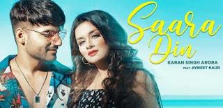 सारा दिन Saara Din Lyrics in Hindi - Karan Singh Arora
