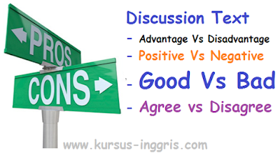 contoh discussion text komplit dengan arti