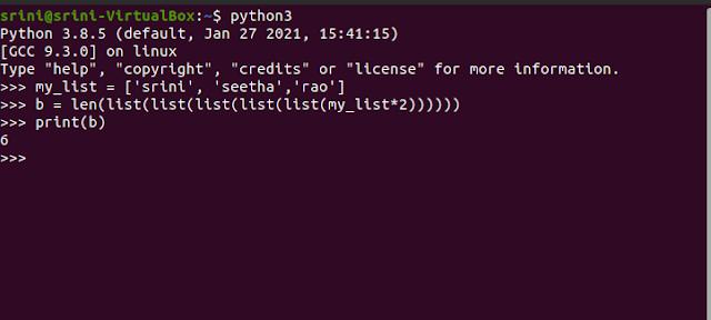 Result of Python List