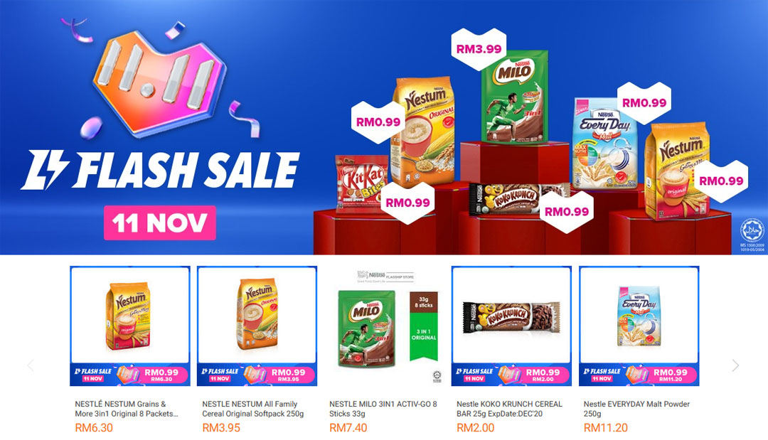 Nestle Flash Sale 11 November Lazada