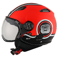 Helm KYT Elsico Super Fluo Red