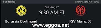 شاهد مباراة بوروسيا دورتموند وماينز 05 بث مباشر الدورى الالمانى اليوم السبت 27-8-2016