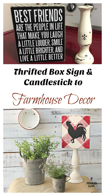 Buffalo Check Farmhouse DIY Decor #oldsignstencils #stenciling  #buffalocheck