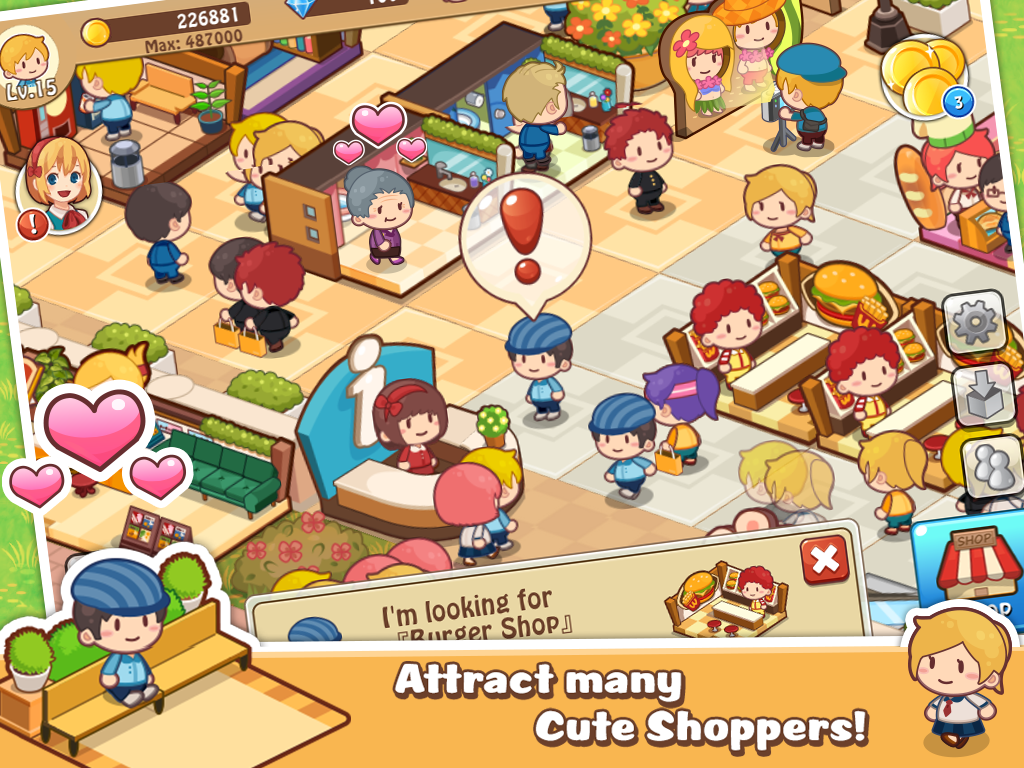 Apk download: Happy Mall Story MOD APK (Unlimited Golds and Diamonds