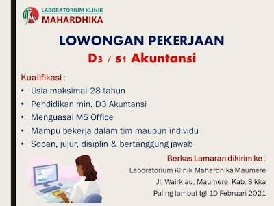 Lowongan Kerja Laboratorium Klinik Mahardika Maumere