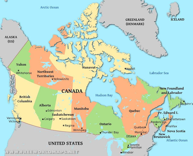 Printable Map of Canada