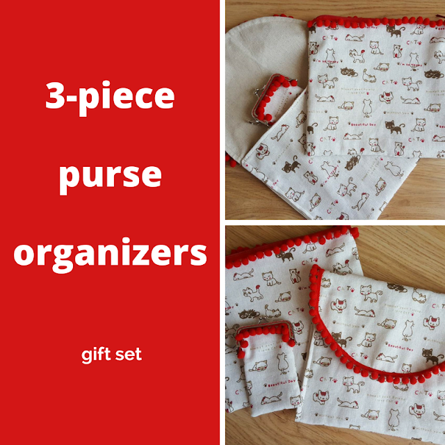 DIY 3-piece purse organizers gift set