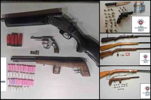 Dois homens morrem e polícia apreende nove armas de fogo na Chapada Diamantina