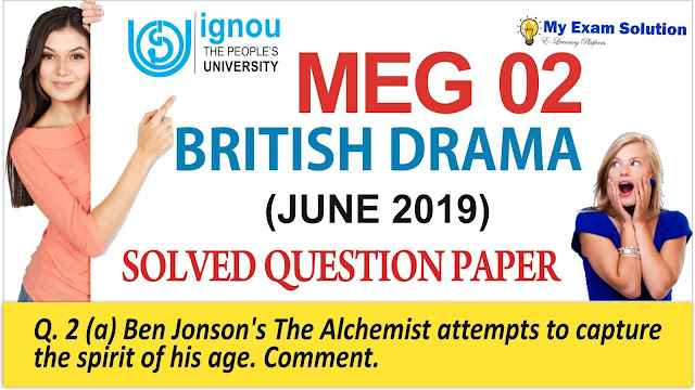 meg 02 british drama, meg 02 british drama, previous year question paper