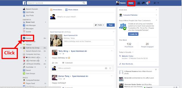 Facebook Games Click it now