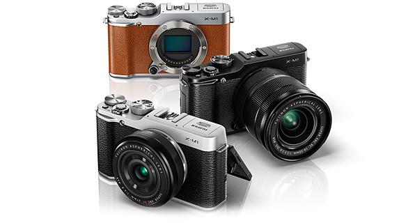 Fujifilm X-M1 Silver w/ XF 27mm F/2.8 R Lens - Black w/ XC 16-50mm F3.5-5.6 OIS Lens - Brown body
